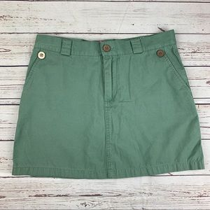 Juniors Roxy Quiksilver Mini Skirt Size 7 Green M6